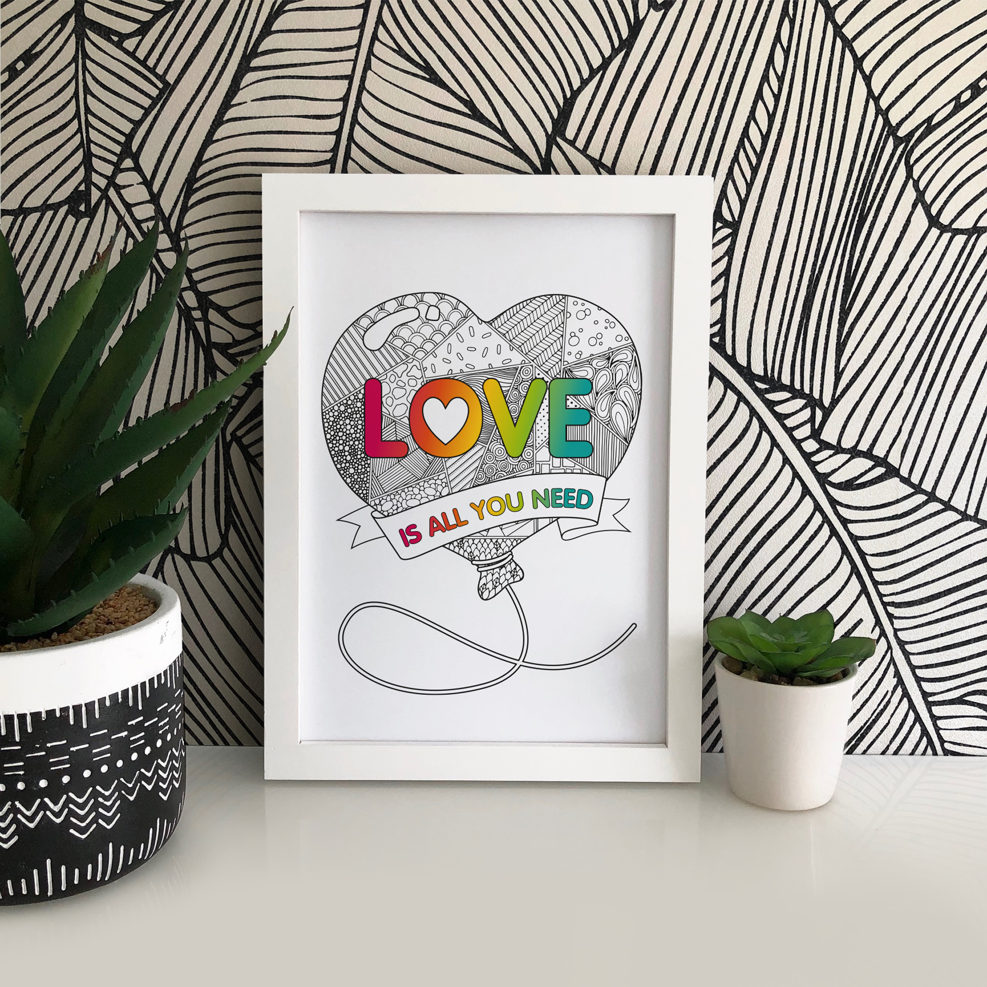 This lovely print of 'Love Is All You Need' is printed onto 190gsm archival matte paper for excellent crispness of details and vibrancy of colour.