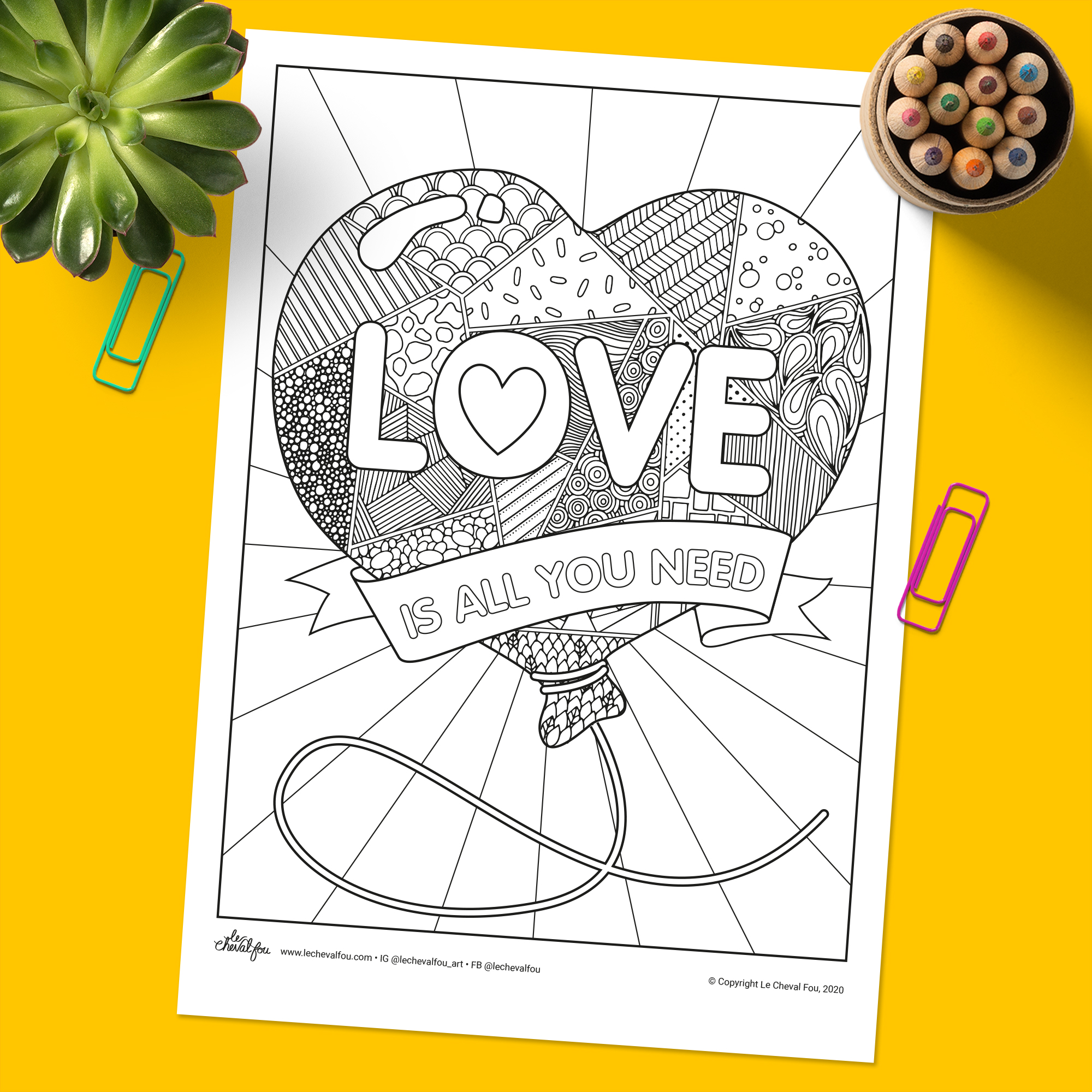 A fun and funky colouring sheet suitable for both kids and adults. Colour it in and send it to a family member or neighbour!