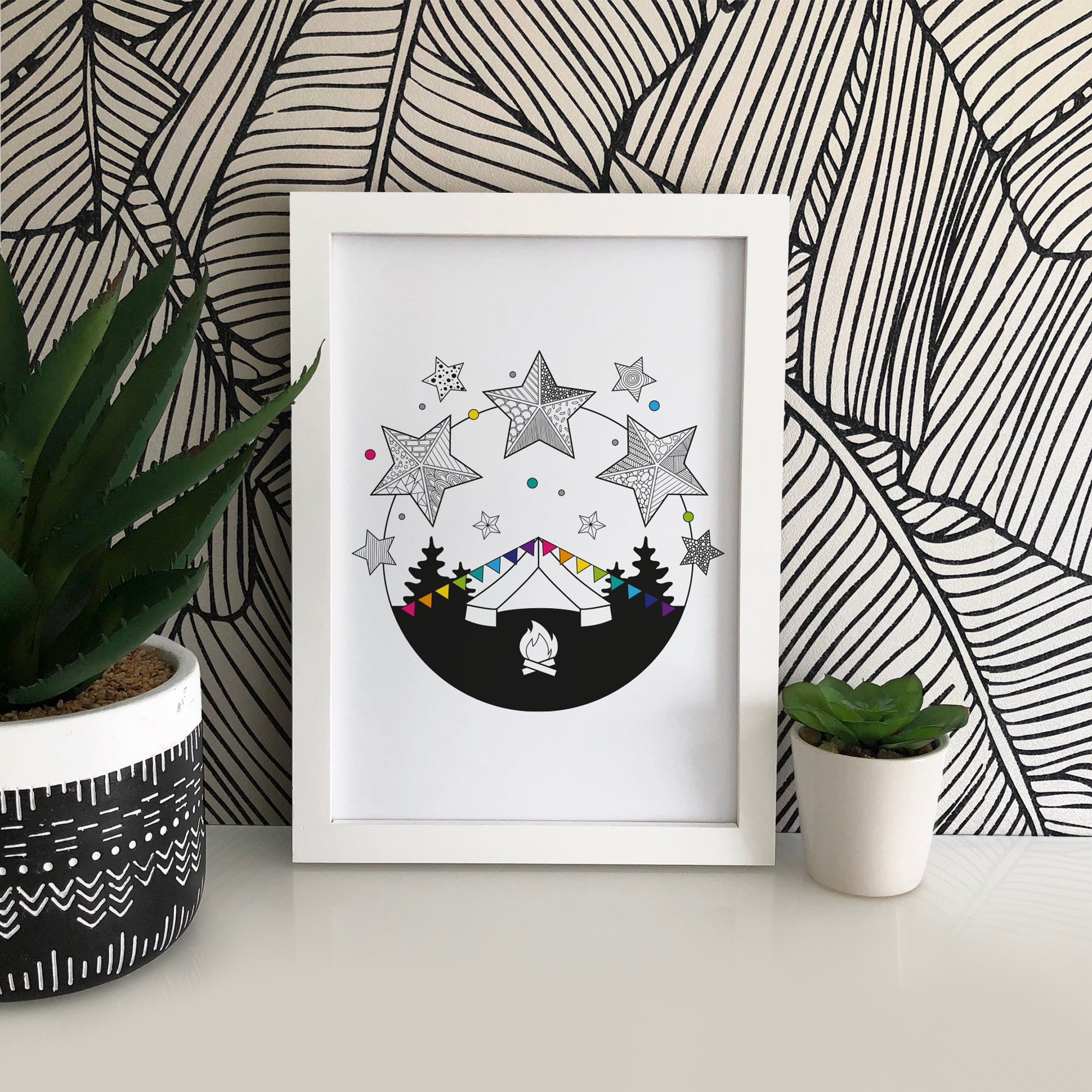 Printed onto 190gsm archival matter paper, this print is crisp and vibrant and ready to be framed and displayed! Looks great as part of a gallery wall or in a kids bedroom.