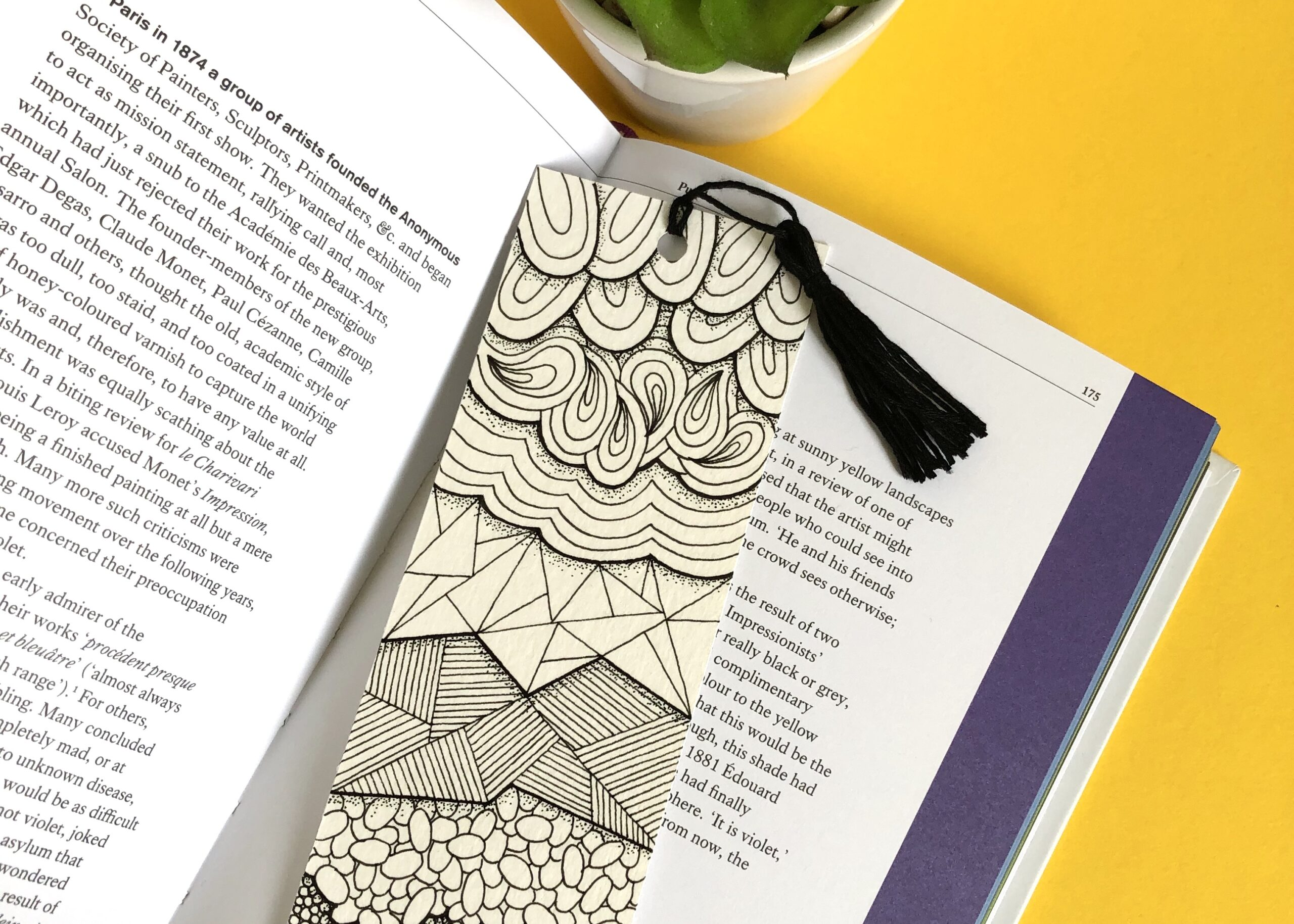the perfect gift for book worms - a hand illustrated one-off bookmark