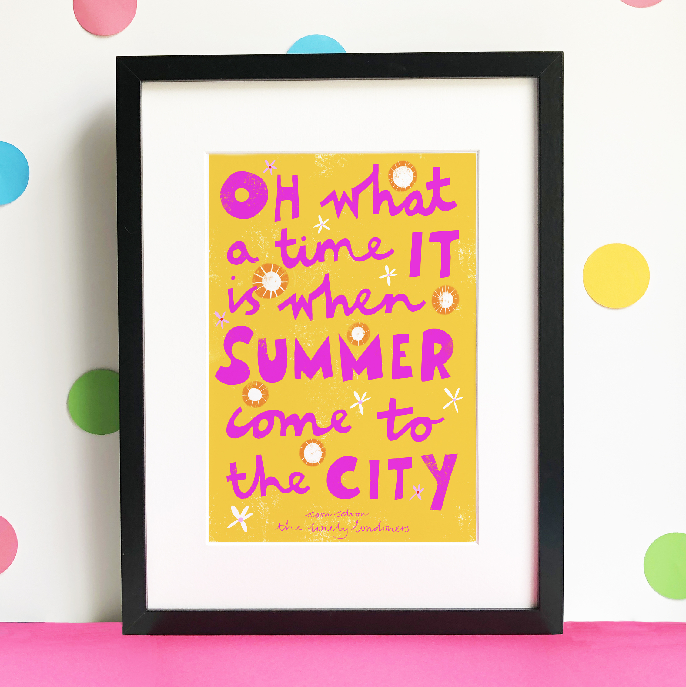 Gift for book lover - Typography Giclee art print of a quote from The Lonely Londoners, written by Sam Selvon, and created by Happy Stuff Studio